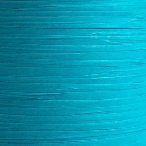 Turquoise 7mm Paper Raffia - Italian Options Tying Ribbon - Button Blue Crafts