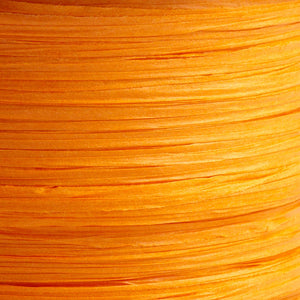 Orange 7mm Paper Raffia - Italian Options Tying Ribbon - Button Blue Crafts
