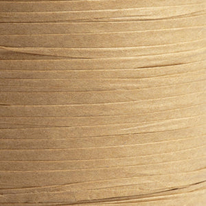 Caramel Brown 7mm Paper Raffia - Italian Options Tying Ribbon - Button Blue Crafts