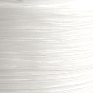 White 7mm Paper Raffia - Italian Options Tying Ribbon - Button Blue Crafts