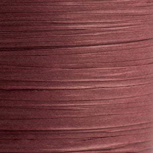 Bordeaux Red / Burgundy 7mm Paper Raffia - Italian Options Tying Ribbon - Button Blue Crafts