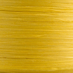 Yellow 7mm Paper Raffia - Italian Options Tying Ribbon - Button Blue Crafts