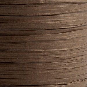 Brown 7mm Paper Raffia - Italian Options Tying Ribbon - Button Blue Crafts