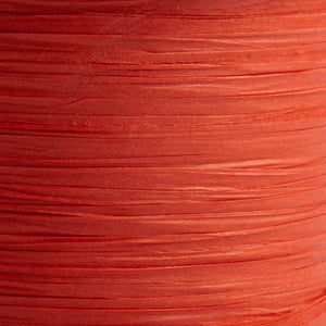 Red 7mm Paper Raffia - Italian Options Tying Ribbon - Button Blue Crafts