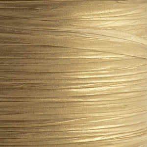 Gold 7mm Paper Raffia - Italian Options Tying Ribbon - Button Blue Crafts