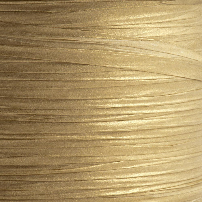 Gold 7mm Paper Raffia - Italian Options Tying Ribbon
