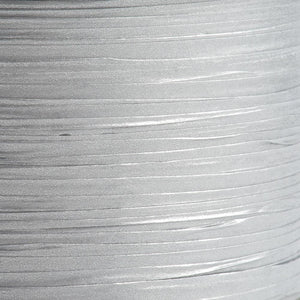 Silver 7mm Paper Raffia - Italian Options Tying Ribbon - Button Blue Crafts