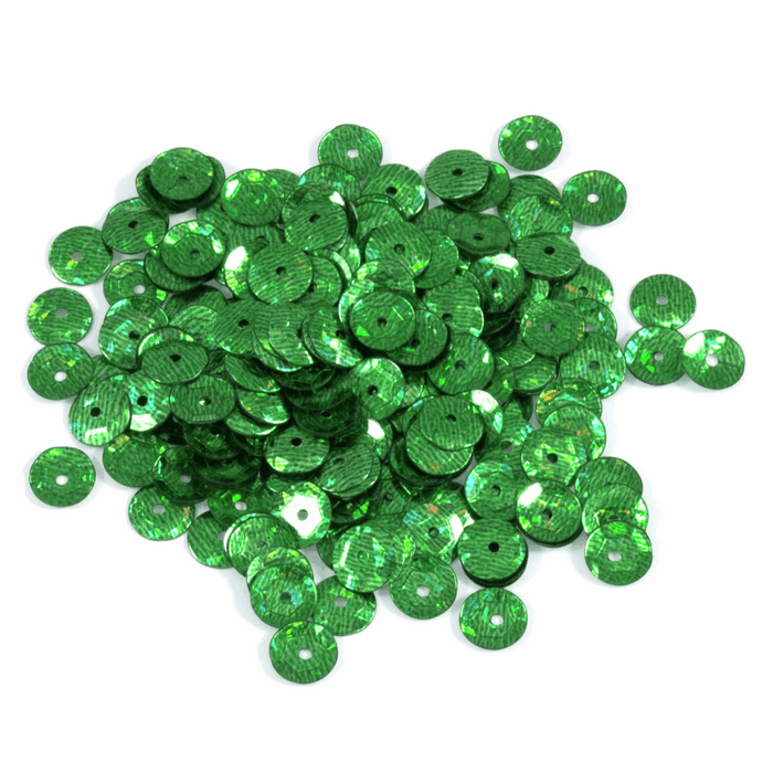 Green Sequins - 500 x 5mm - Crafts, Card Making, Costume Making