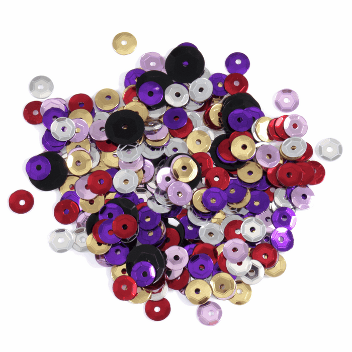 Multi Coloured Sequins - 500 x 5mm - Crafts, Card Making, Costume Making