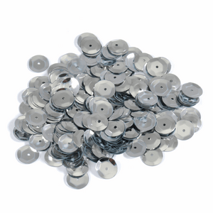 Silver Sequins - 160 x 8mm - Crafts, Card Making, Costume Making