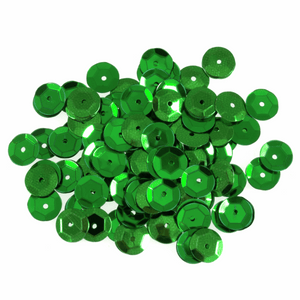 Green Sequins - 160 x 8mm - Crafts, Card Making, Costume Making
