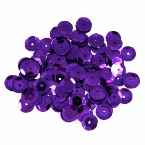 Purple Sequins - 160 x 8mm - Crafts, Card Making, Costume Making