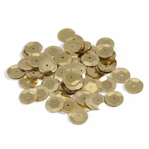 Gold Sequins - 10mm x 120 - Crafts, Card Making, Costume Making