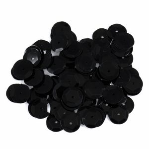 Black Sequins - 10mm x 120 - Crafts, Card Making, Costume Making