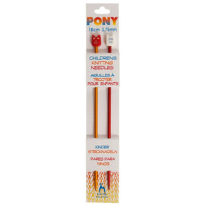 Pony Children's Knitting Pins - Single - Ended - 18cm x 3.75mm
