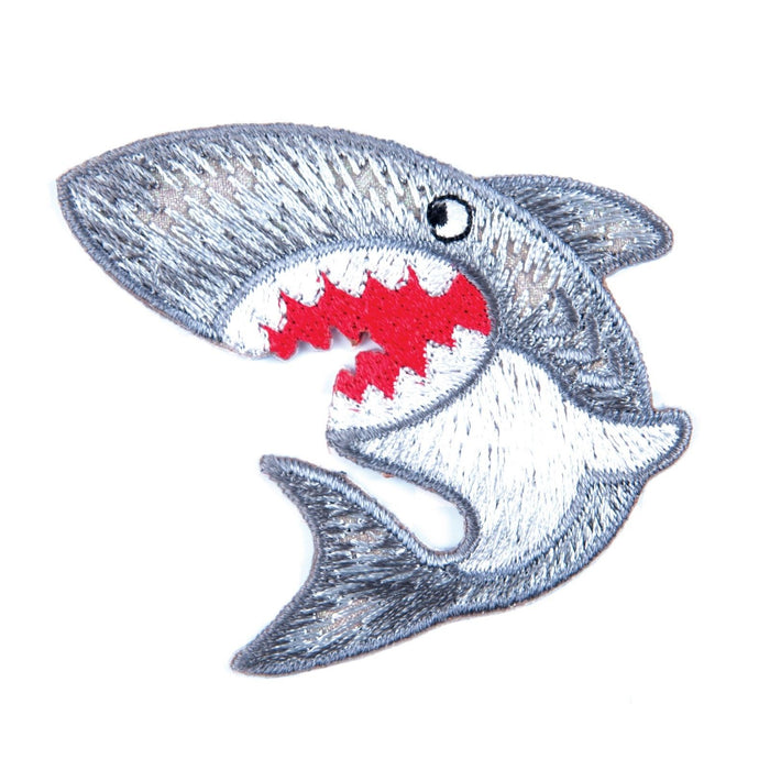 Shark Motif Iron Sew On Embroidered Applique - CFM1/007