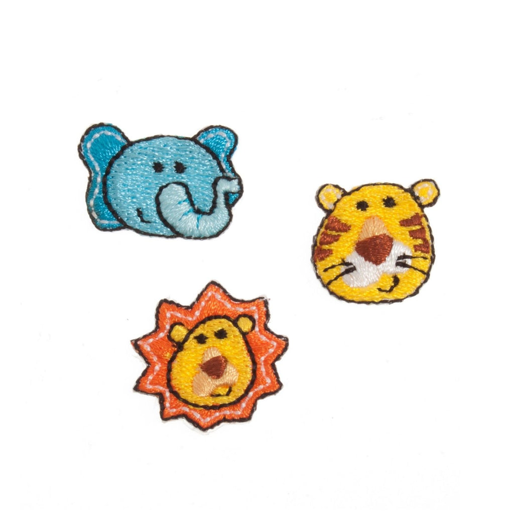Jungle Animals x 3 Motifs Iron or Sew On Applique - CFM2/072X - Button Blue Crafts