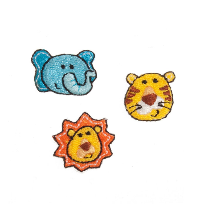 Jungle Animals x 3 Motifs Iron or Sew On Applique - CFM2/072X