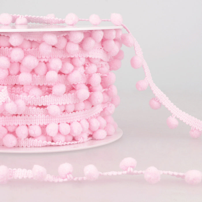 La Stephanoise Light Pink Pom Pom Trim - 10mm