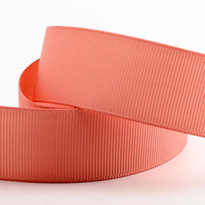 Rose Gold Grosgrain Ribbon - 10mm, 16mm, 25mm, 38mm - Button Blue Crafts
