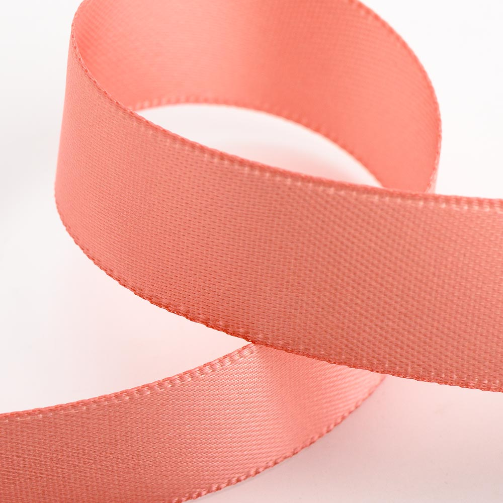 Rose Gold Satin Ribbon - Double Faced - 6 Widths - Craft / Sewing - Button Blue Crafts