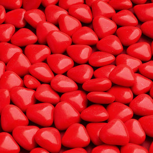 Red Luxury Chocolate Mini Heart Dragees - Wedding Favours, Christening Favours, Sweet carts