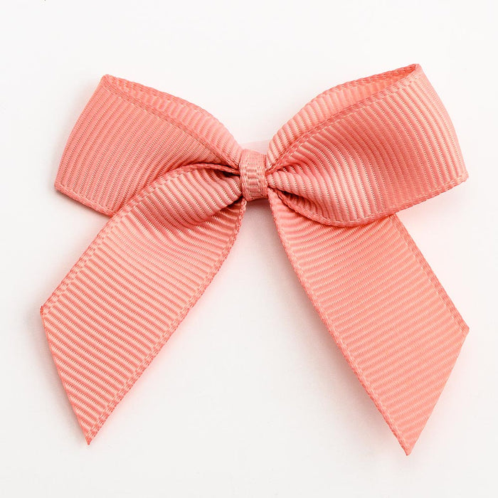 Rose Gold - Self Adhesive Pre Tied Bows - 5cm x 16mm Grosgrain Ribbon