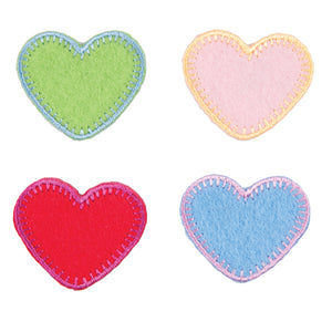 Heart Motifs x 4 Iron or Sew On Applique - CFM2/021 - Button Blue Crafts