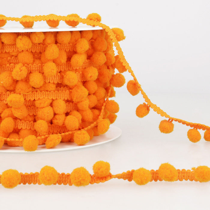 La Stephanoise Orange Pom Pom Trim - 10mm