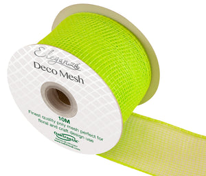 Eleganza Lime Green Deco Mesh - 3 Widths - Button Blue Crafts