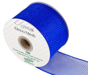 Eleganza Royal Blue Deco Mesh - 3 Widths - Button Blue Crafts