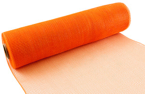 Eleganza Orange Deco Mesh - 3 Widths - Button Blue Crafts