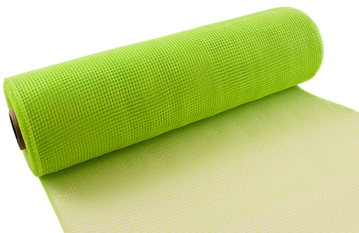 Eleganza Lime Green Deco Mesh - 3 Widths