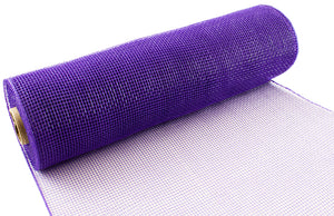 Eleganza Purple Deco Mesh - 3 Widths - Button Blue Crafts