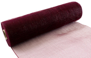 Eleganza Burgundy Deco Mesh - 3 Widths - Button Blue Crafts