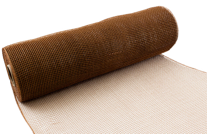 Eleganza Tan Brown Deco Mesh - 3 Widths