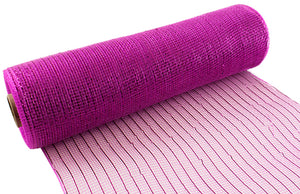 Eleganza Metallic Fuchsia Pink Deco Mesh - 3 Widths - Button Blue Crafts