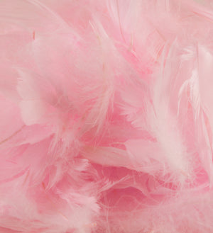 "Pale Pink 1st Grade Marabou Feathers - Mixed Sizes 3"" - 8"" - Eleganza - Button Blue Crafts"