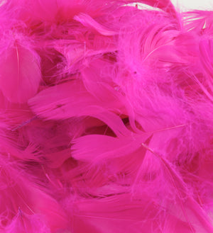 "Fuchsia Pink 1st Grade Marabou Feathers - Mixed Sizes 3"" - 8"" - Eleganza - Button Blue Crafts"