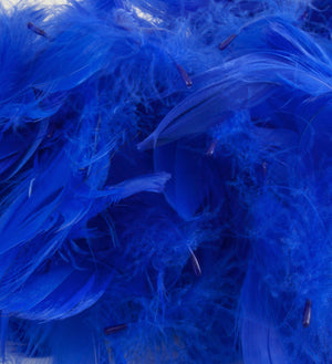"Royal Blue 1st Grade Marabou Feathers - Mixed Sizes 3"" - 8"" - Eleganza - Button Blue Crafts"