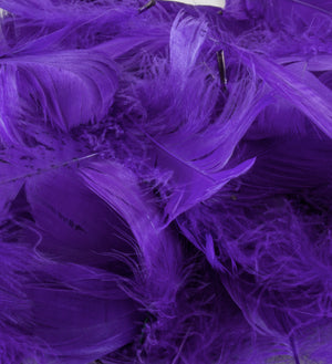 "Purple 1st Grade Marabou Feathers - Mixed Sizes 3"" - 8"" - Eleganza - Button Blue Crafts"