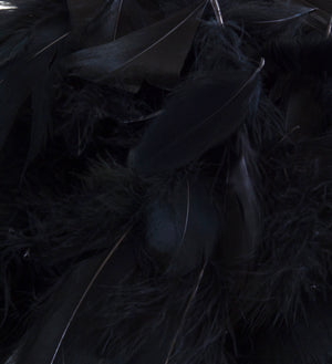 "Black 1st Grade Marabou Feathers - Mixed Sizes 3"" - 8"" - Eleganza - Button Blue Crafts"