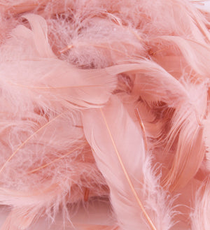 "Rose Gold 1st Grade Marabou Feathers - Mixed Sizes 3"" - 8"" - Eleganza - Button Blue Crafts"