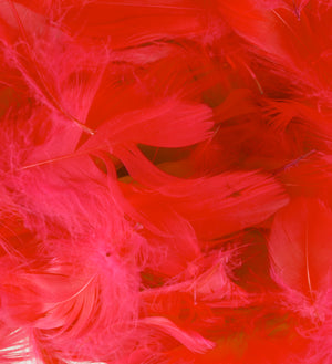 "Red 1st Grade Marabou Feathers - Mixed Sizes 3"" - 8"" - Eleganza - Button Blue Crafts"