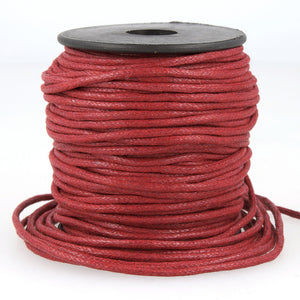 La Stephanoise Imitation Faux Leather 2mm Cord / Thong - Burgundy - Button Blue Crafts