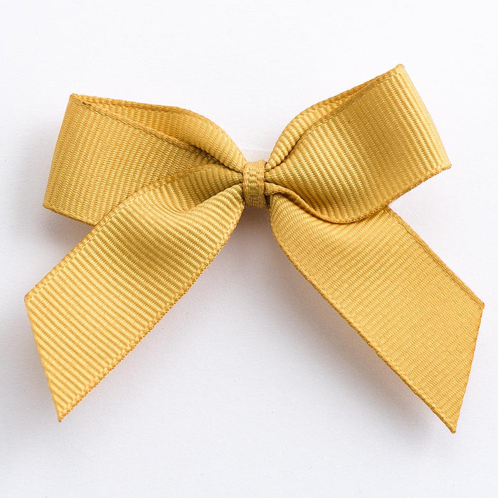 Gold - Self Adhesive Pre Tied Bows - 5cm x 16mm Grosgrain Ribbon