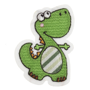 Green Dinosaur Motif Iron or Sew On Applique - CFM2/024X - Button Blue Crafts