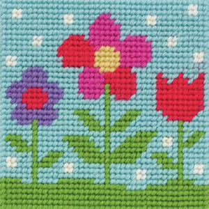 Flora - Flowers Needlepoint Tapestry - Anchor 1st Kit - Button Blue Crafts