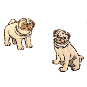 Pug Dog Motifs x 2 Iron or Sew On Applique - CFM2/005X - Button Blue Crafts