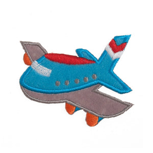 Airplane Motif Iron Sew On Embroidered Applique - CFM2/062X - Button Blue Crafts